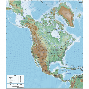 Vector Maps Shop Cartorical - North america topographic map