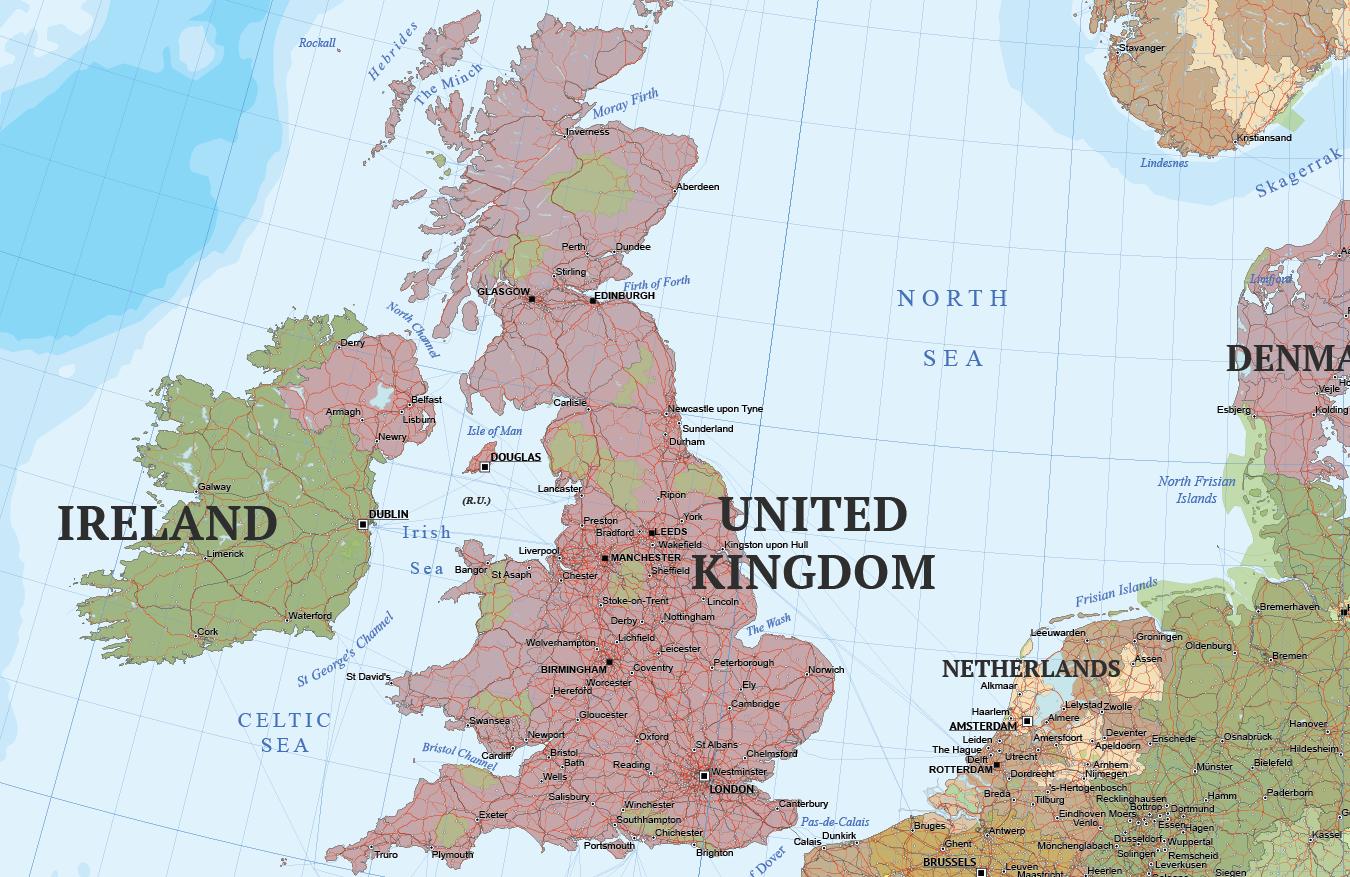 Calais Europe Map.Europe Political Map Cartorical