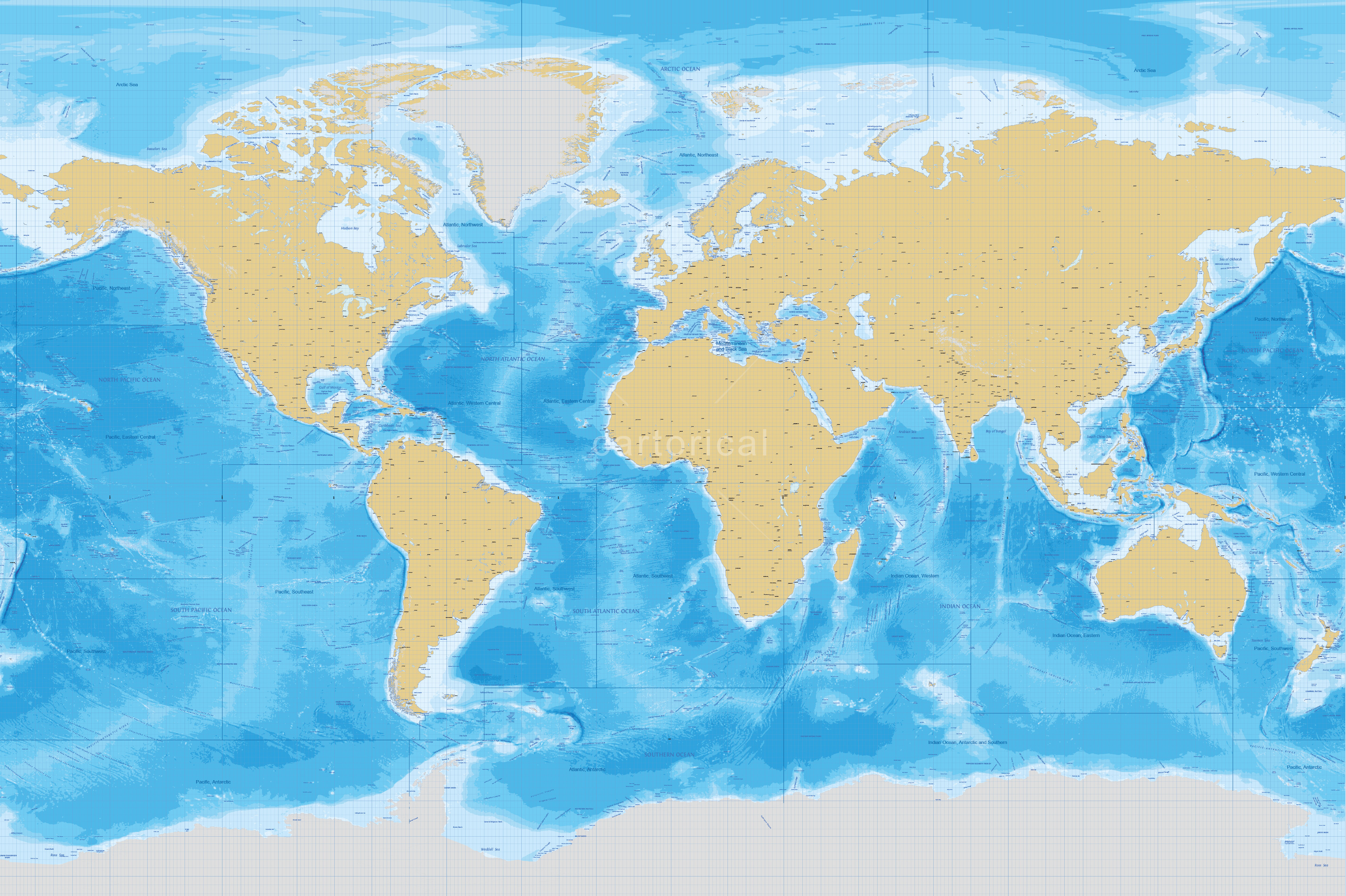 Cartorical World Marine Map