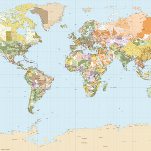 Cartorical World Political Map