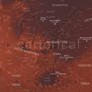 Mars Topographic Map
