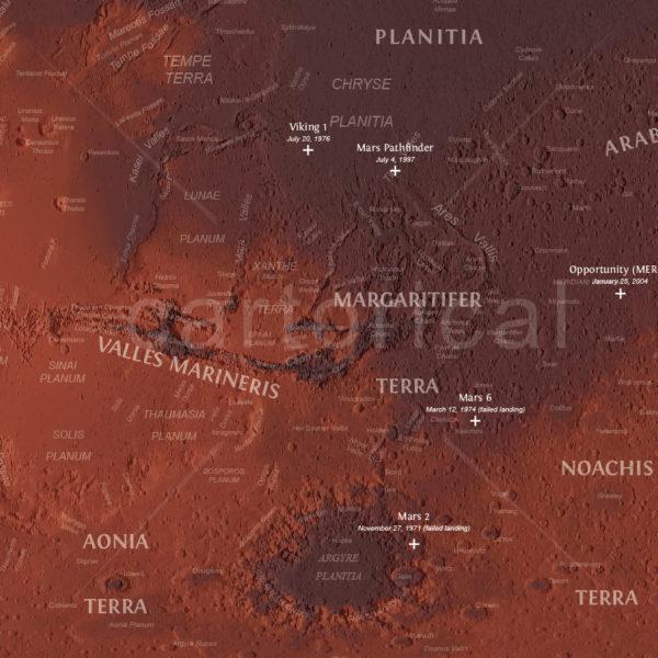 Mars Topographic Map