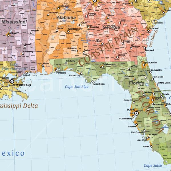 Cartorical USA Political Map
